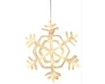 Snowflake, d.30cm, with 24 LED lights, 230V-24V DC, IP20