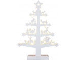 Candlestick with deer and spruces, wooden, 33x47x5cm, 11 LED lights, 4,5V, with rectifier, IP20