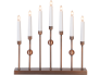 Adv.küünlajalg Gustavo, 37x37cm, 230V, 7 tuld, vaskne, IP20