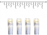 Purikakett System Decor 4m (x40cm), pikendatav, 140 LED, valge, läbipaistev kaabel, IP44