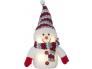 Lumememm pun. mütsiga. H 25cm. 4 sooja valget LED tuld, pat.toide 3xAAA (ei kuulu kompl.), or.tööaeg 200h, 4,5V DC/0,24W, IP20